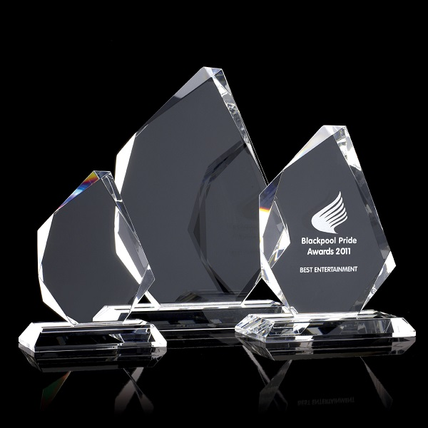 Small optical crystal trophy prism